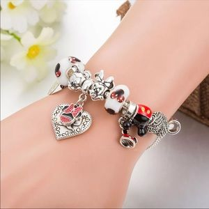 MICKEY & MINNIE  LOVE YOU ♡ Charms GIFT  Bracelet